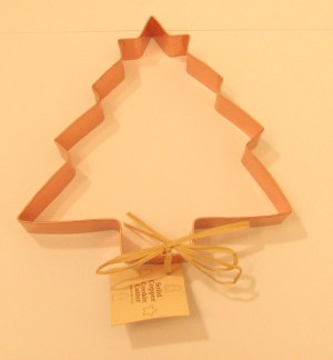 6 Inch Christmas Tree with Star Copper Cookie Cutter