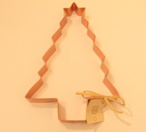 8 Inch Christmas Tree with Star Copper Coookie Cutter Copper Cookie Cutter