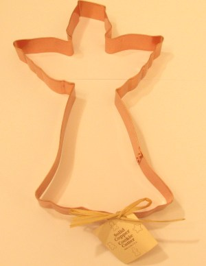 Angel with Halo Copper Cookie Cutter