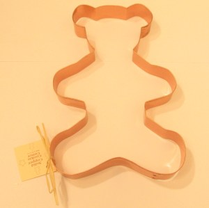 Giant Teddy Bear Copper Cookie Cutter