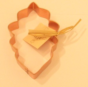 Oak Leaf Copper Cookie Cutter