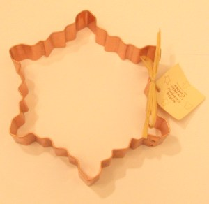 Snowflake Copper Cookie Cutter